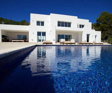 AH2900 - Modern luxury 4 bed villa Es Cubells walking to Es Torrent beach